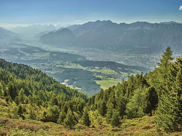 Blick über Innsbruck im Sommer